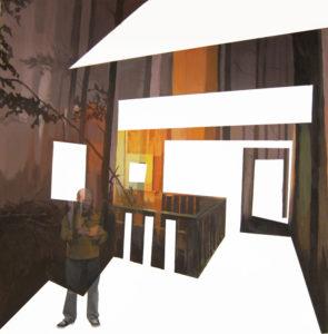 ANNA CARUSO - il gioco perduto, acrilico su tela, 50x50cm, 2014sitp