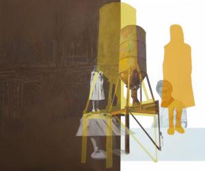 Anna Caruso - A casa tutti bene, acrilico su tela, 50x60cm, 2015pp