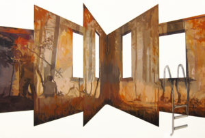Anna Caruso -Autobiografia, acrilico su tela, 95x140cm, 2013
