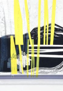 Anna Caruso - Cartolina - acrilico su tela, 100x70cm, 2016