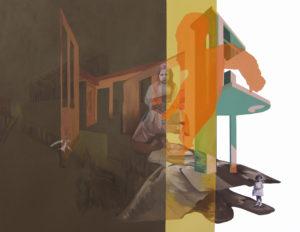 Anna Caruso - Il ballo che aspettavo, acrilico su tela, 80x100 cm, 2014pp