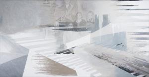 Anna Caruso, Non ero diretto qui eppure sono qui, acrylic on canvas, 80x150 cm, 2018chiro
