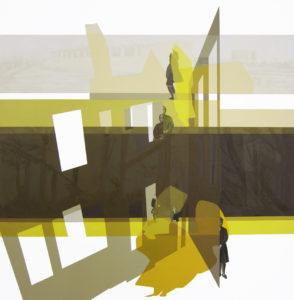 Anna Caruso - Untitled, acrilico su tela, 50x50cm, 2015m