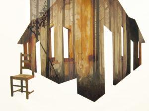 Anna Caruso - come e dove, acrilico su tela, 75x100cm, 2013pp