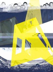 Anna Caruso - il visitatore invisibile - acrilico su tela, 80x60 cm, 2016