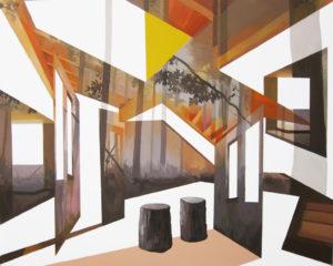 Anna Caruso - l'orizzonte degli eventi, acrilico su tela, 80x100 cm, 2014 - GET