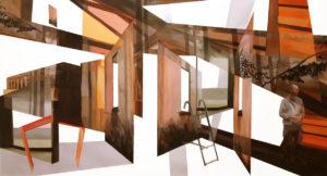 Anna Caruso - memoria bianca, acrilico su tela, 135x250cm, 2014p