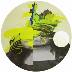 Anna Caruso - senza titolo - acrilico su tela, 30x30cm, 2016