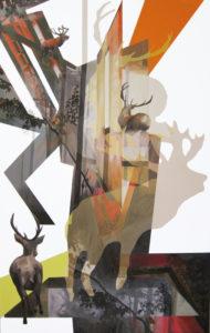 Anna caruso, Epifania della fuga, acrilico su tela, 150x100 cm, 2014pp