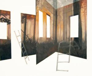 anna caruso - autoritratto in salita, acrilico su tela, 50x60cm, 2013
