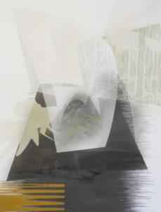 Anna Caruso- Dietro un'altra collina, acrilico su tela, 80x60 cm, 2017