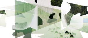 Anna Caruso - acrilico e inchiostro su tela, 67x160 cm, 2017m