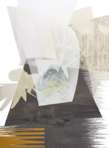 Dietro un'altra collina, acrylic on canvas, 80×60 cm